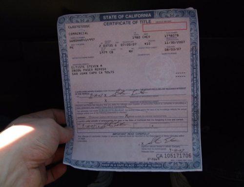 Meine erste Zulassung in den USA