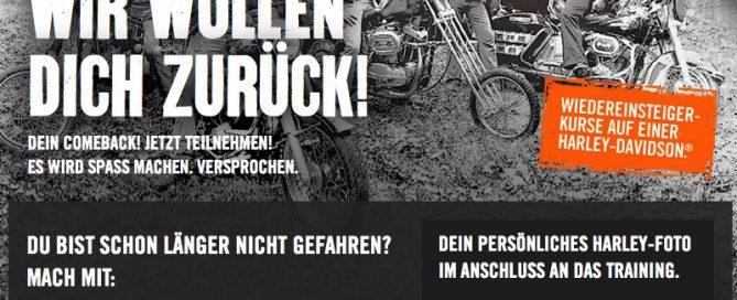 Screenshot / Harley-Davidson Deutschland / Wiedereinsteigerkurse 2013