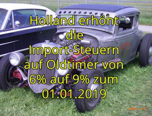 Holland erhöht die Import-Steuern auf 9%
